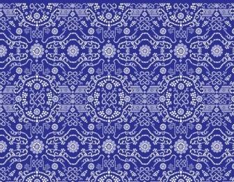 Vector Detailed Flower Pattern Vector Art