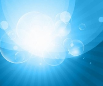 Vector Blue Sky Bokeh Burst Illustration Background Vector Art