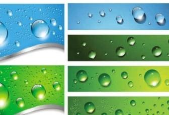 Vector Water Drops Background Vector Art
