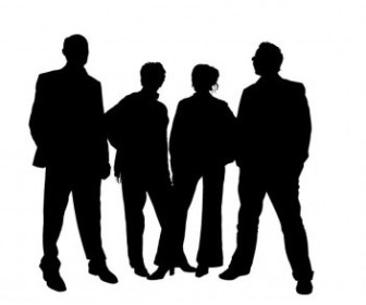 Vector Family Silhouettes People Vector Art