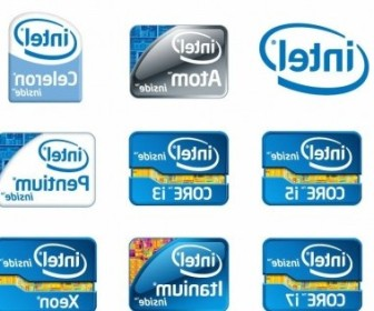 Vector Intel Chip Logos Vector Art