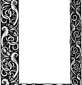 Vector Ornate Frame Vector Clip Art