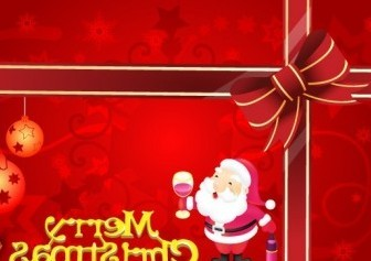Vector Merry Card Christmas Vector Graphics