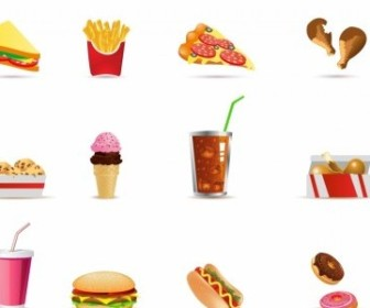 Vector Fast Food Icons Icon Vector Graphics