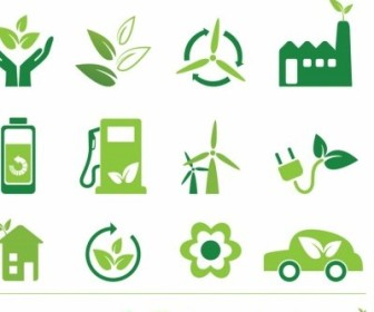 Vector Eco Icons Icon Vector Graphics