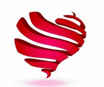 Vector Ribbon Heart Vector Art