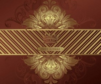 Vector European Gorgeous Classic Pattern 04 Background Vector Art