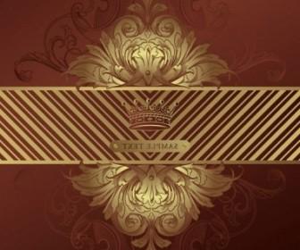 Vector European Gorgeous Classic Pattern 04 Background Vector Art