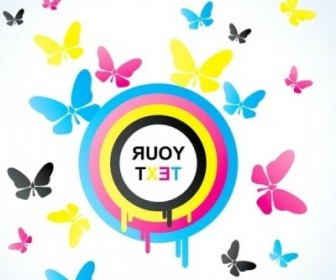 Vector Colorful Butterfly 01 Background Vector Art