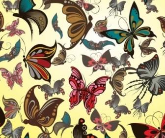 Vector Butterflies Pattern Vector Art