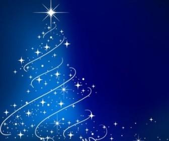 Vector Blue Tree Illustration Christmas Vector Graphics