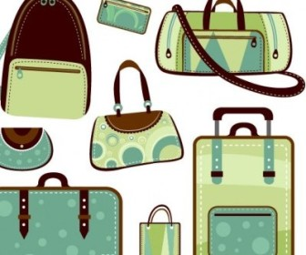 Vector Variety Of Bags Vector Art
