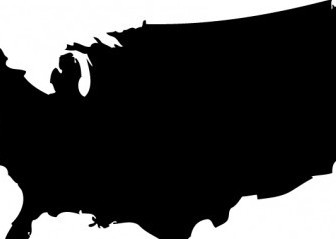 Vector US Map Silhouette Silhouettes Vector Graphics