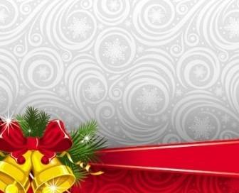 Vector The Exquisite Christmas Bells 06 Background Vector Art