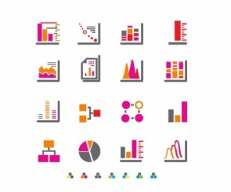 Vector Charts And Diagrams Icon Vector Graphics