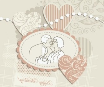 Vector Wedding Label 04 Background Vector Art