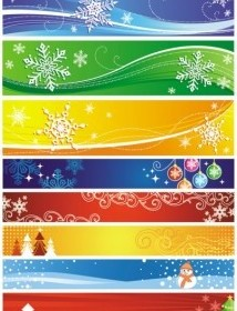 Vector Exquisite Christmas Vector Banner