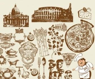 Vector European Restaurant Design Vector Art