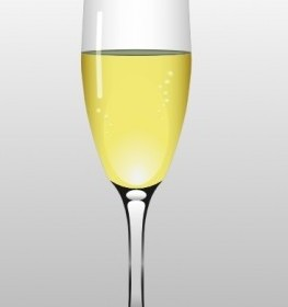 Vector Glass Of Champagne Vector Clip Art