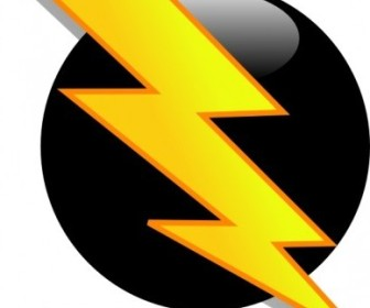 Vector Lightning Icon Vector Clip Art