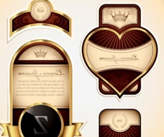 Vector Shape Of The Gold Label Multiple Vector Art