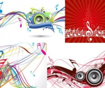 Vector 5 Dynamic Musical Elements The Trend Vector Art