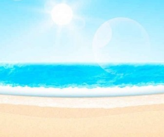 Vector Summer Beachthemed Background Vector Art