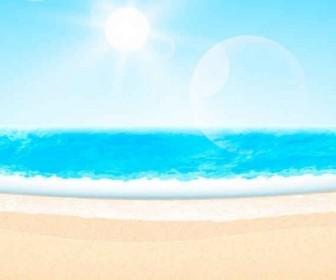 Vector Summer Beachthemed Background Vector Art