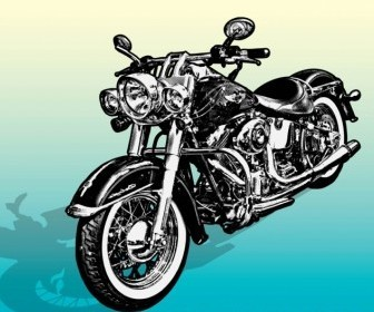 Vector Motorcycle Graphics Vector Art