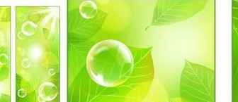 Vector Fresh Green Background Material Tree Plant Vector Graphics