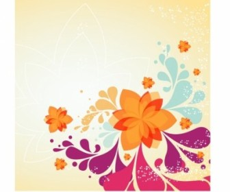 Vector Spring Flower Background Vector Art