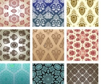 Vector 15 Retro Wallpaper 01 Pattern Vector Art