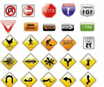 Vector Road Signs Vector Art