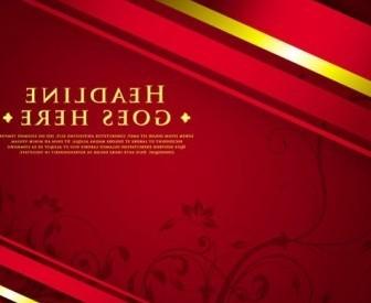 Vector Classic Luxury Red 04 Background Vector Art