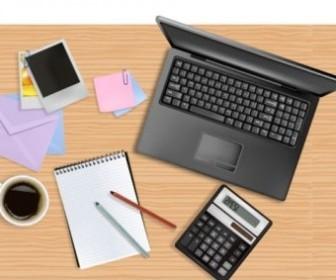 Vector Office Desktop Vector Art