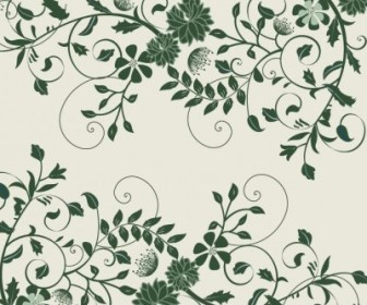 Vector Elegant Green Floral Graphic Background Vector Art