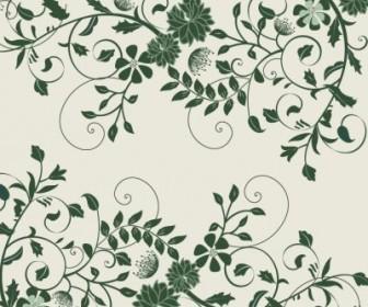 Vector Elegant Green Floral Graphic Background Vector Art