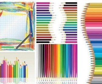 Vector Color Pencil Vector Art