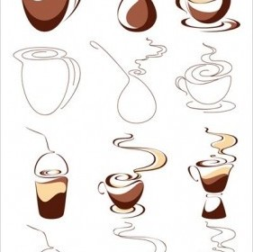 Vector Graphic 1 Coffee Abstract Vector Graphics
