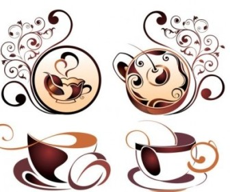 Vector Fine Coffee Element 04 Vector Art