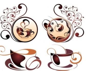 Vector Fine Coffee Element 04 Vector Art