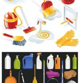 Vector Cleaning Supplies Icon Vector Graphics