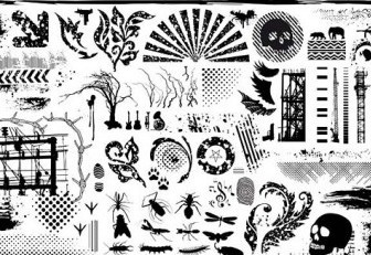 Vector Black And White Design Elements Series 7 Current Element Vector Art