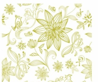 Vector Flower Background Pattern Vector Art