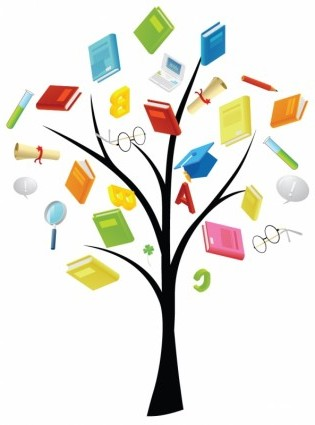 Vector Book Knowledge Tree Vector Art Ai Svg Eps