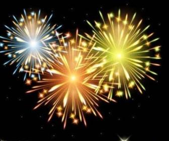 Vector Fireworks Background Vector Art