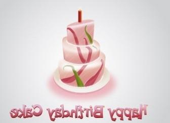Vector Happy Birthday Cake Vector Art