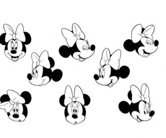 Vector Minnie Mouse 1 Logo Vector Art