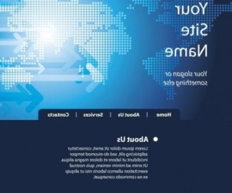 Vector Sense Of Technology Website Template 05 Web Design Vector Graphics