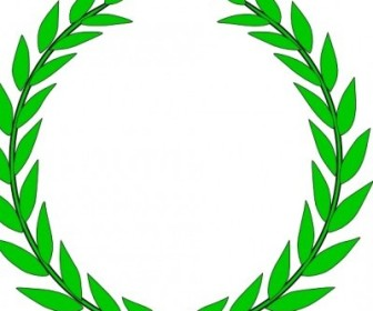 Vector Olive Wreath Vector Clip Art
